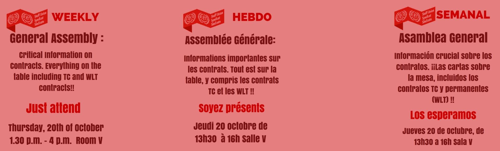 General Assembly – 20 October 2016