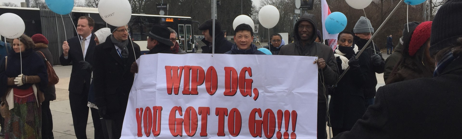 Pictures of the Demonstration in solidarity with WIPO's Staff
