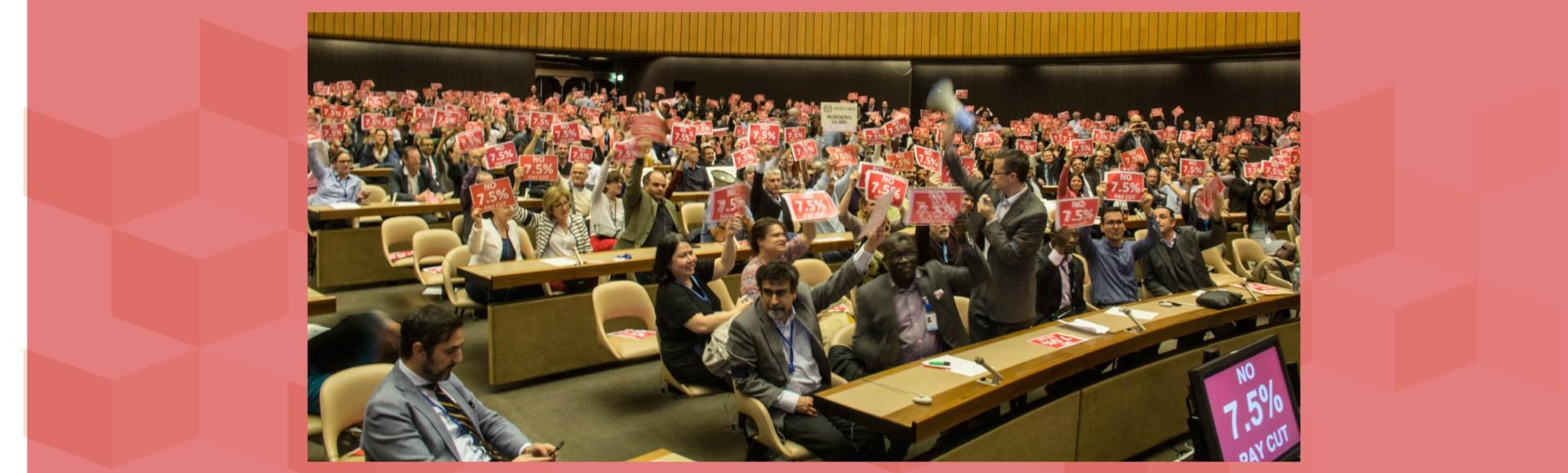 UN Staff general meeting, Geneva, 6th April